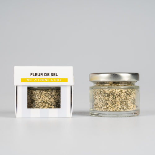 Fleur de Sel mit Zitrone und Dill 30 g.
