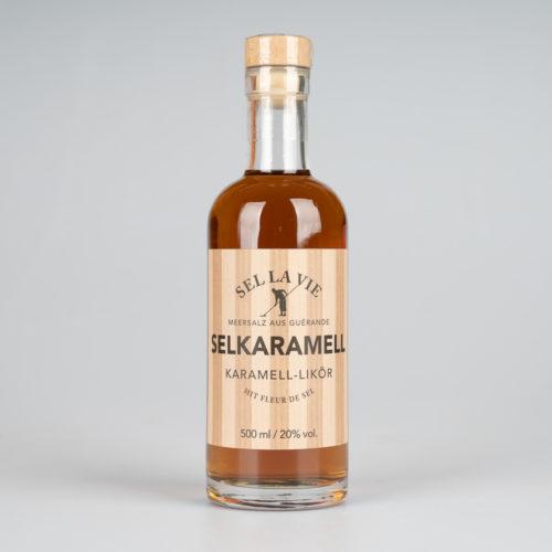 1 VE Selkaramell Karamell Likör 500 ml (6 Fl.)