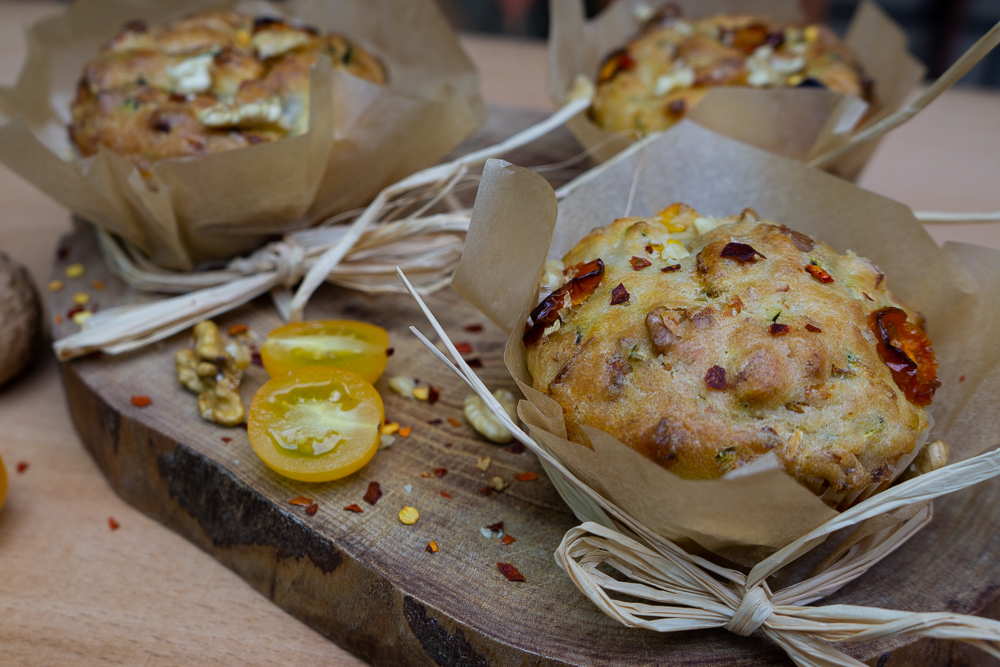 Zucchini-Feta Muffins (vegetarisch)